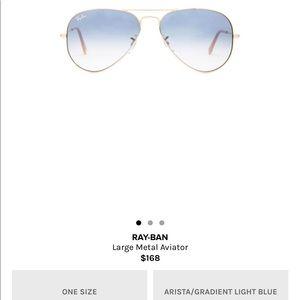 Ray ban large metal aviator gradient blue